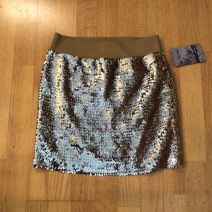 Lily White Sequin Skirt